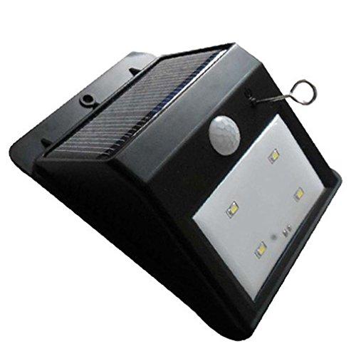 Inkach 4 Bright Nodes LED Solar Power PIR Motion Sensor Wall Light Outdoor Waterproof Lamp for Outdoor Deck Garden Outside Wall