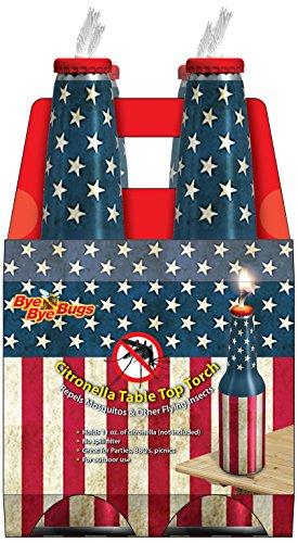 Bye Bye Bugs BB100-4 Bottle Citronella Torch