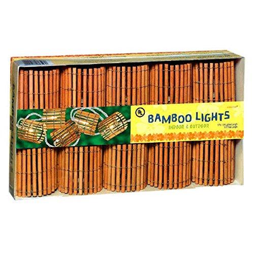 Grasslands Road Tiki Bamboo Barrel Patio Light Set 9-Foot