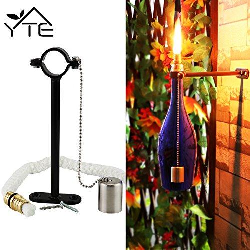 Yte Wine Bottle Tiki Torch Kit For&nbspgarden Lighting Christmas Halloween Party