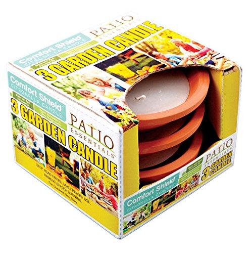Patio Essentials 20012-3 Mosquito Repellent Citronella Candle 3 Oz Pack Of 9