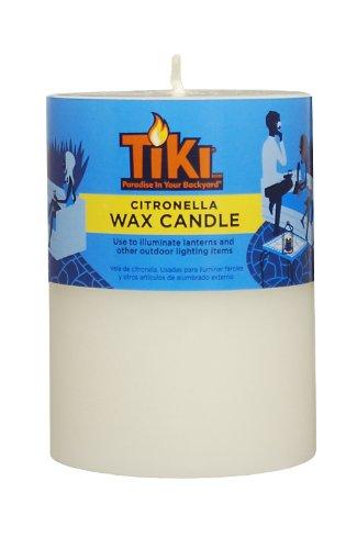 TIKI Brand Citronella Pillar Candle 1 - 3x4