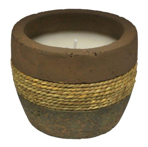 TIKI Brand Earth Tone Citronella Candle Ceramic Rope 1 - 10oz