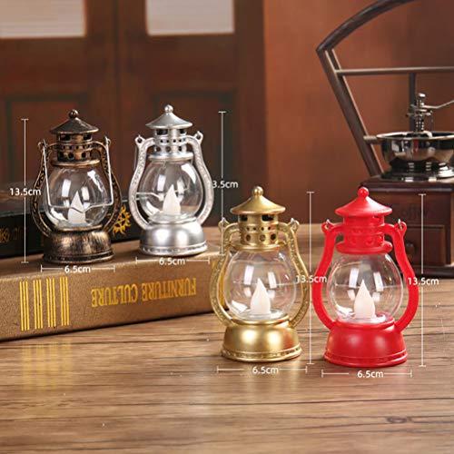 Mobestech LED Kerosene LanternVintage Candle Lantern Halloween Table Lantern for Party Halloween Decor 1Pcs Random Style
