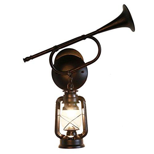 Rustic Creative Retro Horn Wall Lamp Restaurant Aisle Antique Classic Kerosene Lantern