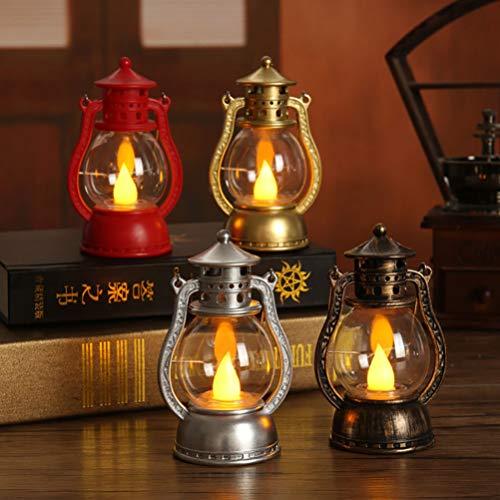 Uonlytech LED Candle LanternVintage Kerosene Lantern Halloween Table Lantern for Party Halloween Decor 1Pcs Random Style