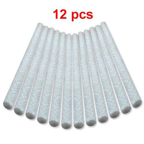 Fiberglass Tiki Torch Wicks 985&quot Long 12 Pcs 1182&quot Total replacement Tiki Torch Wicks For Oil Lamps Diy