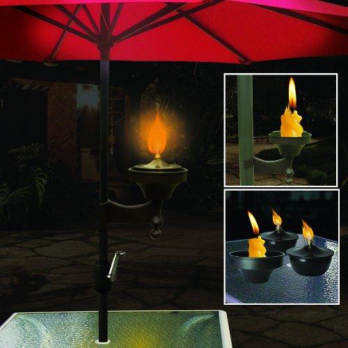 Lightig Outdoor Citronella Oil Lamp Torch For Umbrellaamp Multifunctional Use