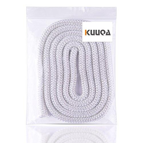 Kuuqa Fiberglass Tiki Wicks 12 Inches Diameter 65 Ft Long For Homemade Torches Candle Lanterns Wine Bottles