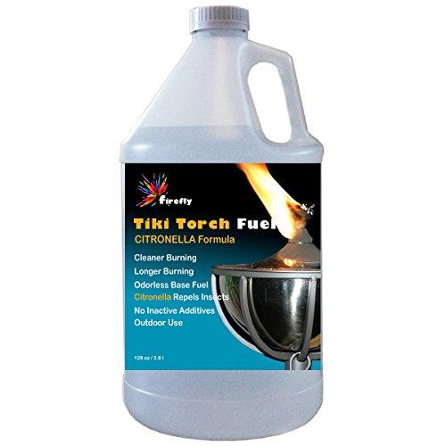 Firefly Citronella Tiki Torch Fuel - 1 Gallon - Odorless Oil - More Economical
