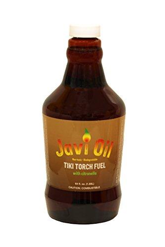 Javi Oil Citronella Tiki Torch Fuel Refill - Compatible With Tiki Canisters - Half Gallon