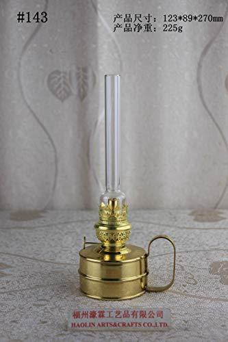 Antique Brass-Glass Oil Lamp Lighting Lamp Lantern Paraffin Lamp Collection 143