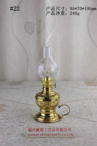 Antique Brass-Glass Oil Lamp Lighting Lamp Lantern Paraffin Lamp Collection 22
