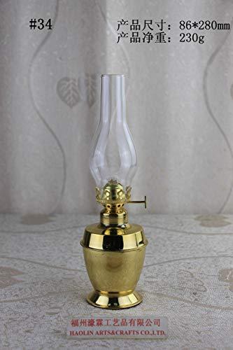 Antique Brass-Glass Oil Lamp Lighting Lamp Lantern Paraffin Lamp Collection 34