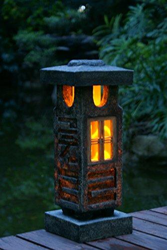 Tiaan 20&quot Height Japanese Style Lantern Solar Garden Lamp Solar Pagoda Light