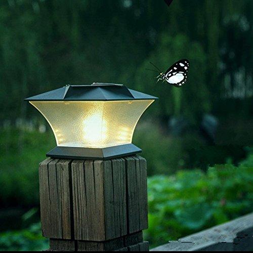 Solar Powered Led Post Cap Lightoutdoor Garden 54&quot X 54&quot 18 Led Post Deck Cap Square Fence Light Landscape