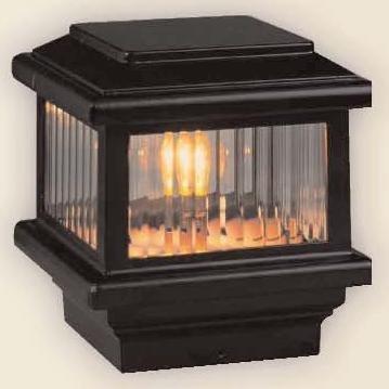 Titan 110V Deck Light 5-12 Post 40W Black
