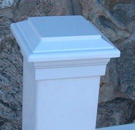 Titan Post Cap to match Aurora Deck Light 4 Vinyl Post White