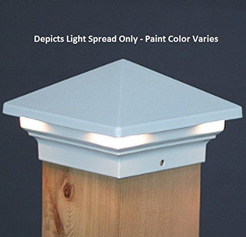 Venus LED Deck Post Light 6 - Black Aurora GLX8058