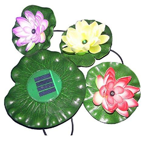 Gofurther BSL003 Floating Solar Powered LED Lotus Light Flower Lamp For Garden Pond Fountain Pool Bird bath