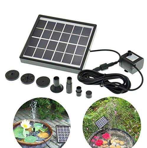 Gofurther GYD015 Solar Power Panel Kit Water Pump For Garden Pond Fountain Pool Plants Caring Bird bath