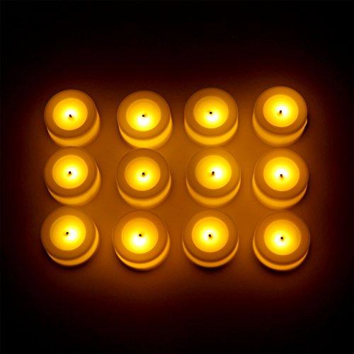 Candle Impressions Set Of 12 Ivory Wax Coated Led Mini Votives