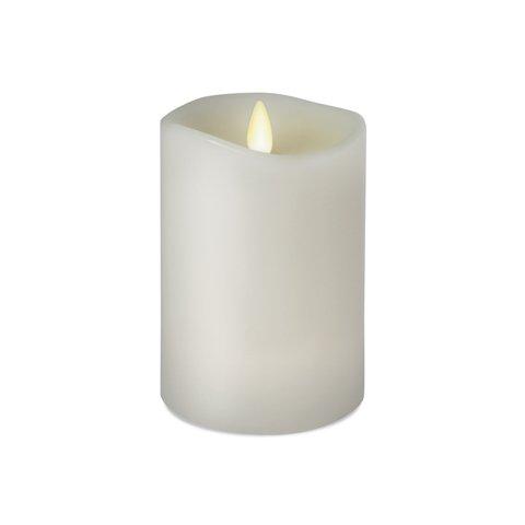 LuminaraFlameless Candle - Unscented White Wax 360 Pillar - 4 in
