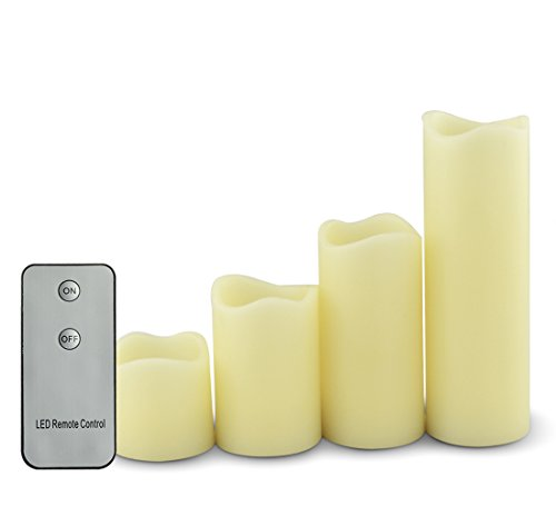 Color You Flickering Flameless Led Candles 2&quot 3&quot 4&quot 6&quot Real Wax Electronic Pillar Lamp With Remote Control Battery