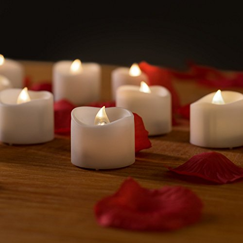 Flameless Candles With Timer - Valkit Votive Candles battery Operated Led Tea Lights Candles With Flickering