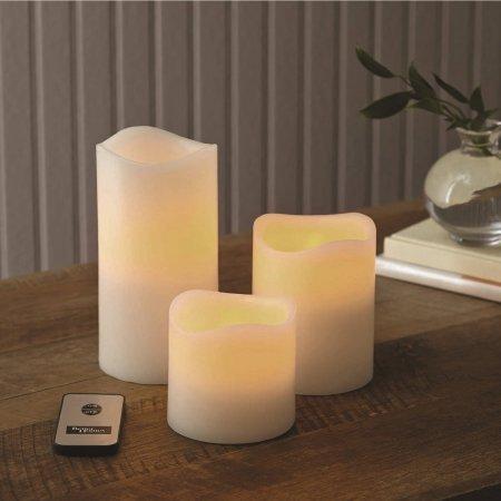Better Homes and Gardens Flameless LED Pillar Candles 3pk Vanilla