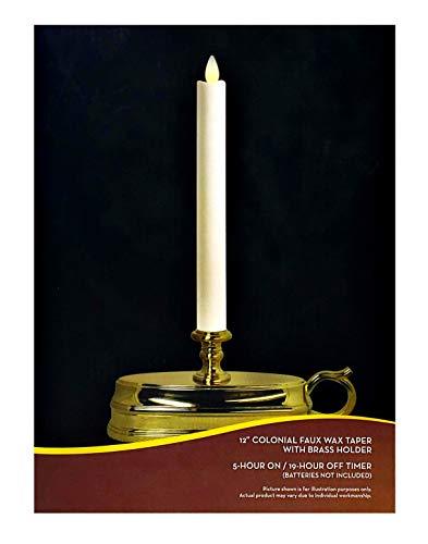 Darice Luminara Flameless Window Candle Lamp - Brass