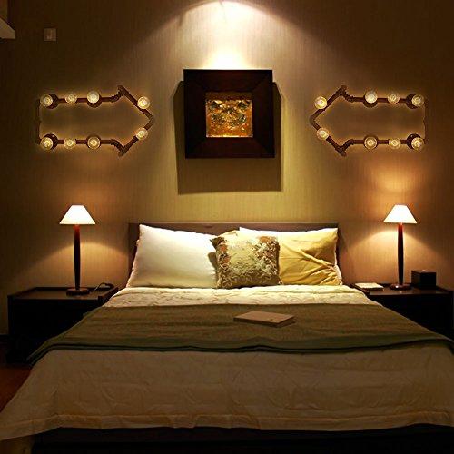 LED Water Wall Industry lron Retro Minimalist Creative Restaurant Bedroom Bedside Lamp Wall Lamp Bracket Lamp Luminaire AC220V