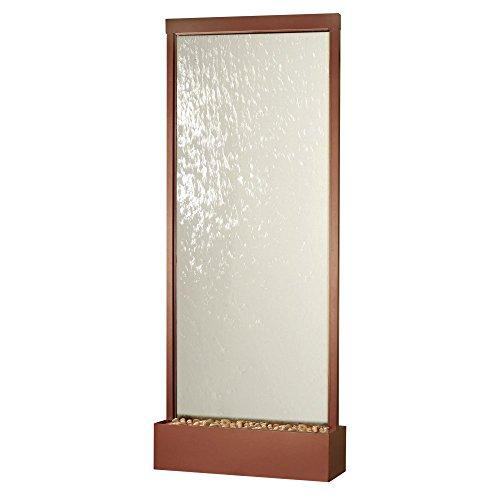 BluWorld 120 in Waterfall Grande IndoorOutdoor Floor Fountain - Copper Vein - Clear Glass