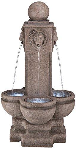 Four Sided Lion Indooroutdoor Sandstone Floor Fountain