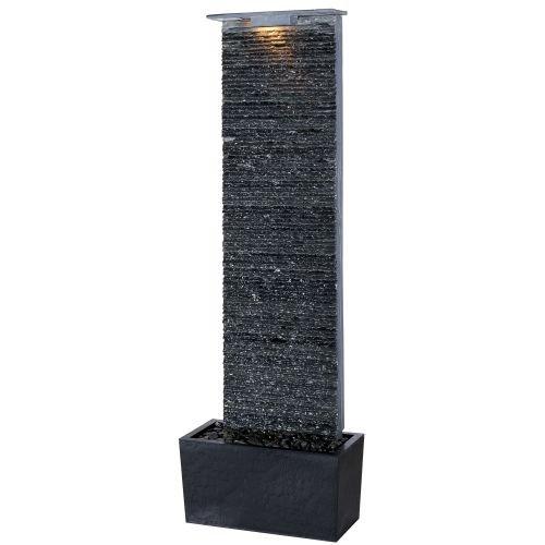 Kenroy Home 50252GYSL Bedrock Falls Outdoor Floor Fountain in Grey Slate