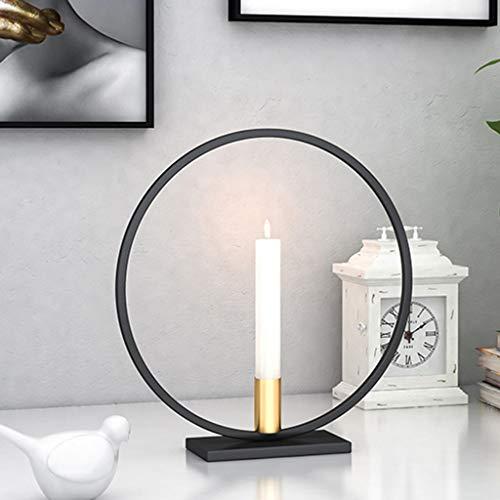 Hukai Nordic Style 3D Circle Geometric Metal Wall Candle Holder Tea Light Candlestick Sconce Crafts Wedding Home Decor