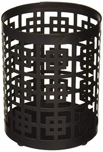 ArtMaisonca Grid Metal Candle Holder 4x5 Black 2 Piece