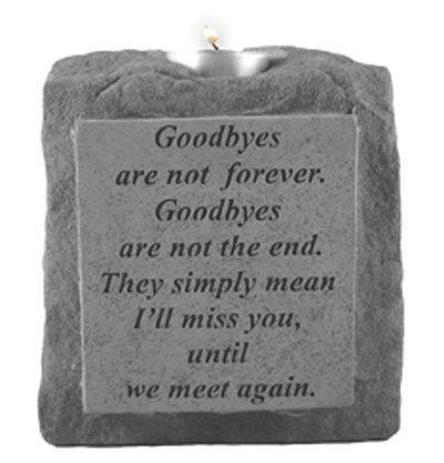 Kay Berry 05320 Goodbyes Are NotSingle-Short Votive Holder