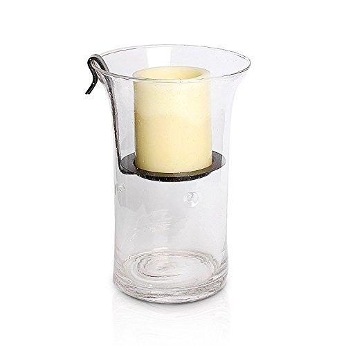 GiveU Hurricane Glass Candle Holder 12x8x6 Lantern