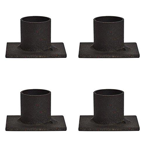 Distressed Iron Taper Holders 4 2x15x1 Inch