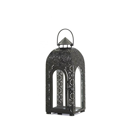 Tabletop Lantern Iron Candle Holder Hanging Ornament Guard Display Metal Decor Small