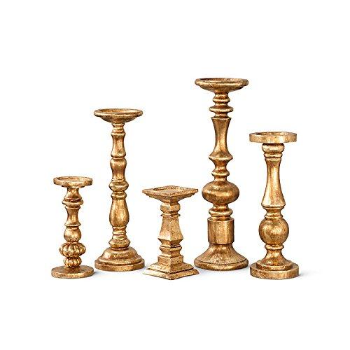 Gilded Candlesticks-Set of 5