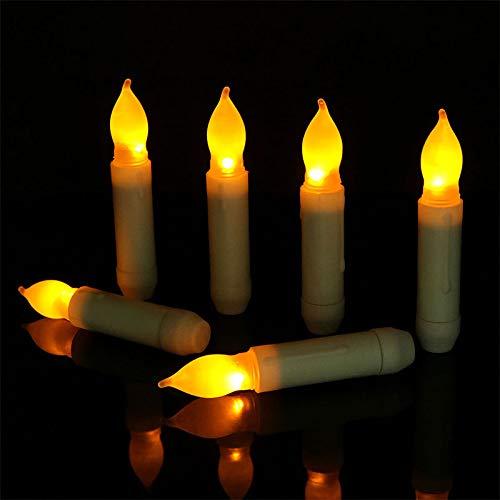 DragonPad Led Candle Lights 12PcsSet Smokeless Home Holiday Wedding Decoration Removable LED Candles Short Bulb Head 21115cm