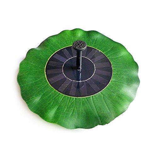 Lieyang Green Lotus Leaf Shape Solar Powered Garden Pool Water Floating Pump Fountain