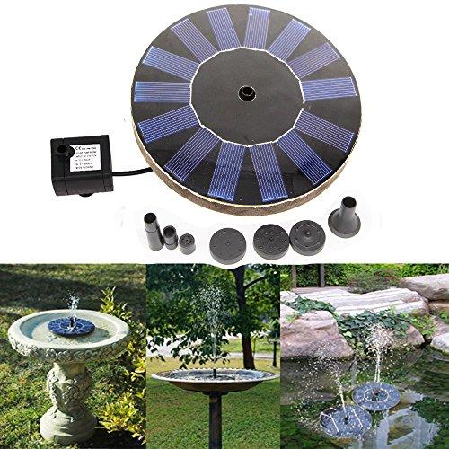 Solar Power Bird Bath FountainSolar Panel Water Floating Fountain Pump Kit for Bird BathFish TankSmall PondGarden Decoration
