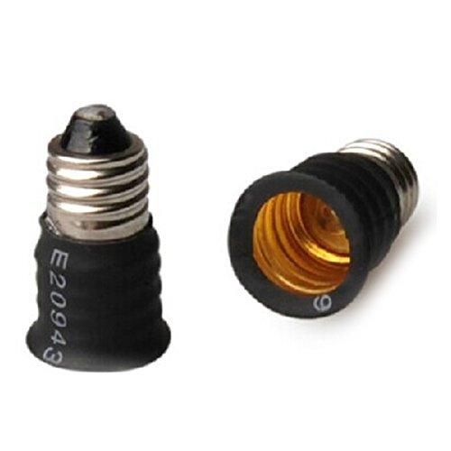 DishyKooker E12 to E14 Converter Lamp Holder LED Light Bulb Base