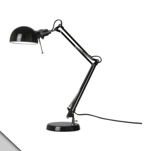 IKEA - FORSÅ Work Lamp Black  E12 LED bulb