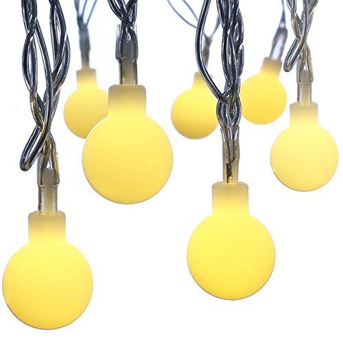 Jxz-h String Lights 33ft10m Waterproof 100 Led Globe Long Fairy Lights Battery Operated Warm Color Led Ball Festival
