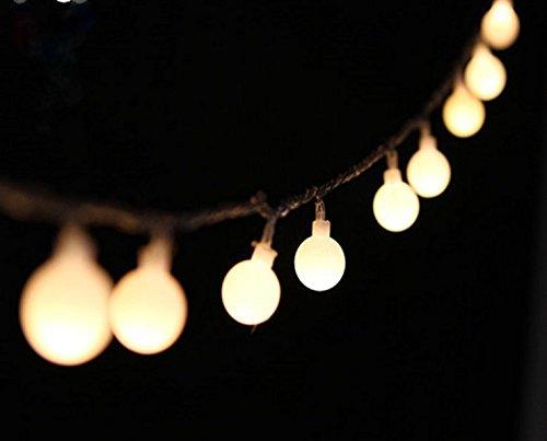Peacejoy 100 Led Globe Light Strings Indoor Outdoor Decoration String Lights 10m Warm White