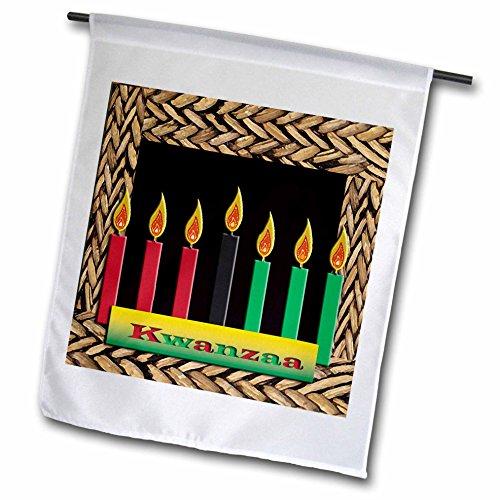 3dRose fl_12985_1 Kwanzaa Candles Garden Flag 12 by 18-Inch